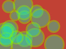 Abstract background. Multicolored circles and different sizes on a colored background. Stylized multicolored abstraction using geometric shapes of different Stock Photography