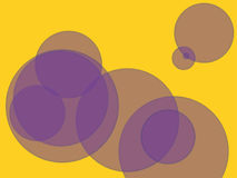 Abstract background. Multicolored circles and different sizes on a colored background. Stylized multicolored abstraction using geometric shapes of different Stock Image