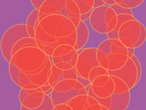 Abstract background. Multicolored circles and different sizes on a colored background. Stylized multicolored abstraction using geometric shapes of different stock illustration