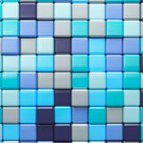 Abstract background of multicolored colorful cubes. Abstract background of multicolored colorful blue shades cubes Royalty Free Stock Photos
