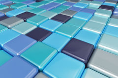 Abstract background of multicolored colorful cubes. Abstract background of multicolored colorful blue shades cubes Stock Photography