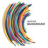 Abstract background with multicolored curved lines in a chaotic order. Colored lines with place for your text  on a white background Stock Photography