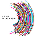 Abstract background with multicolored curved lines in a chaotic order. Colored lines with place for your text  on a white background Stock Image