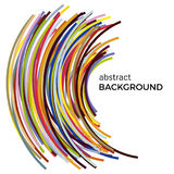 Abstract background with multicolored curved lines in a chaotic order. Colored lines with place for your text  on a white background Stock Photo