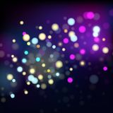 Abstract background with multicolored dots. Vector Royalty Free Stock Image