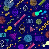 Abstract background with multicolored  geometric shapes. Abstract bright futuristic avant garde background with multicolored  geometric shapes. Vector Stock Photos