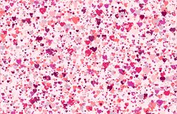 Abstract background of multicolored hearts Royalty Free Stock Images
