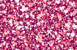Abstract background of multicolored hearts Royalty Free Stock Photography