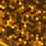 Abstract background of multicolored hexagon. Vector illustration Stock Image
