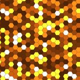 Abstract background of multicolored hexagon. Vector illustration Royalty Free Stock Photography