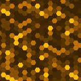 Abstract background of multicolored hexagon. Vector illustration Stock Photography