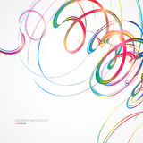 Abstract background with multicolored lines. Abstract background with multicolored curved lines on white Stock Photo