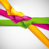 Background with multicolored ribbons Royalty Free Stock Images