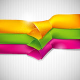 Background with multicolored ribbons. Abstract background with multicolored ribbons Stock Illustration