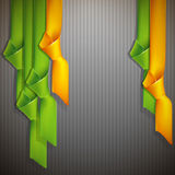 Background with multicolored ribbons. Abstract background with multicolored ribbons Royalty Free Illustration