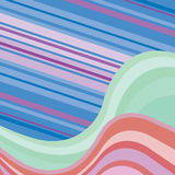 Abstract background with multicolored waves Royalty Free Stock Photo