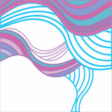 Abstract background with multicolored waves Stock Image