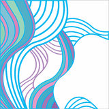 Abstract background with multicolored waves. White background with blue, turquoise, pink, and violet waves Royalty Free Stock Photos