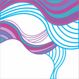Abstract background with multicolored waves Stock Photo
