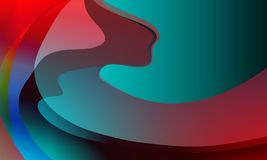 Abstract background multicolored wavy smooth, curve. background, vector illustration. Stock Photography