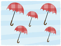 Abstract background multiple open umbrellas red Royalty Free Stock Photos