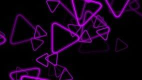 Abstract background with multiple pink neon triangles. stock illustration