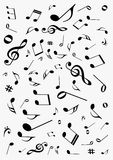 Abstract  background with music notes. Abstract gray background with music notes Stock Photos