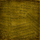 Abstract background with the music notes Stock Photography