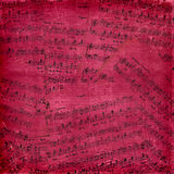 Abstract background with the music notes Royalty Free Stock Photo
