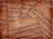 Abstract background with the music notes Stock Photos