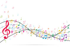 Abstract Background with Music notes Royalty Free Stock Images