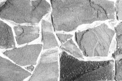 Abstract background of natural stone. Black and white photography. Close-up stock photo
