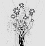Abstract background of the nature, nature flowers. Collection abstract a backgrounds - silver flowers Stock Photography