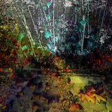 Abstract background. Nature reclaims the city. stock photos