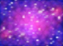 Abstract background with nebula and stars in shining purple and bokeh effect royalty free illustration
