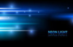 Abstract background. Neon. Blue background Stock Photography