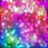 Abstract background with neon bright bokeh Royalty Free Stock Photo