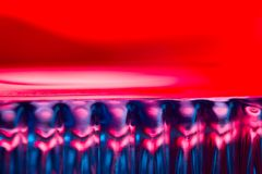 Abstract background in neon light. Blue and red royalty free stock photos