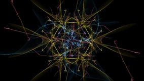 Abstract background - Neon light star. Silk symmetry series Stock Photography