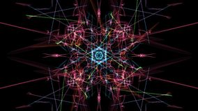 Abstract background - Neon light star. Silk symmetry series Royalty Free Stock Photography