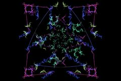Abstract background - Neon light star. Silk symmetry series Stock Photos