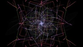 Abstract background - Neon light star. Silk symmetry series Royalty Free Stock Images