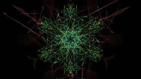 Abstract background - Neon light star. Silk symmetry series Stock Images