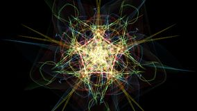 Abstract background - Neon light star. Silk symmetry series Stock Image