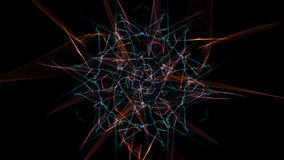 Abstract background - Neon light star. Silk symmetry series Royalty Free Stock Photos