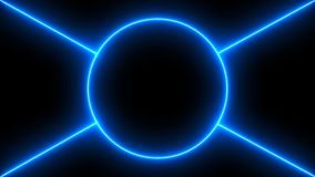 Abstract background with neon lines. 3d rendering Royalty Free Stock Photography