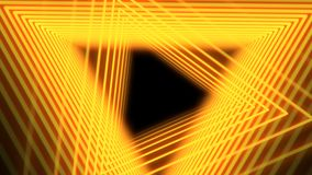 Futuristic abstract background with neon orange light triangles, seamless loop. Neon geometric shapes and lines. 4K. Abstract background with neon orange light vector illustration