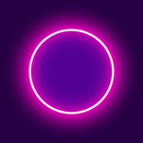 Abstract background. Neon round. Vector illustration.  Royalty Free Stock Photos
