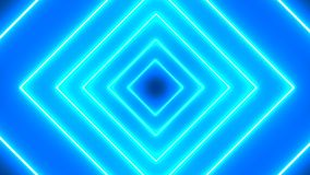 Abstract background with neon squares. 3d rendering stock illustration