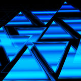 Abstract background of neon triangles Stock Image